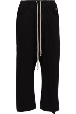 Rick Owens DRKSHDW cropped cotton sweatpants
