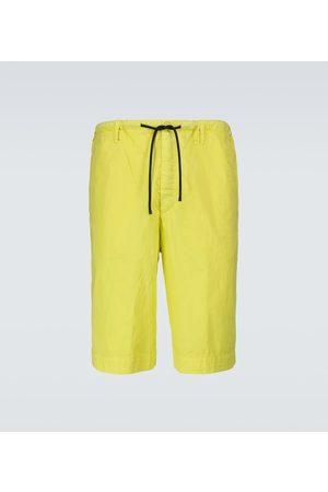 DRIES VAN NOTEN Wide-leg cotton shorts