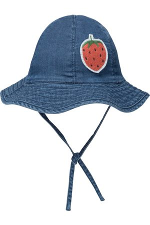 Mini Rodini Girls Hats - Strawberry denim bucket hat