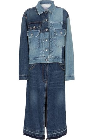 SACAI Women Denim Jackets - Deconstructed denim jacket