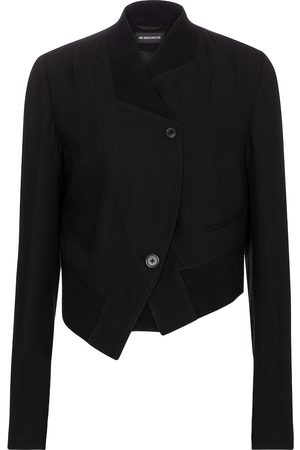 ANN DEMEULEMEESTER Asymmetric virgin wool jacket