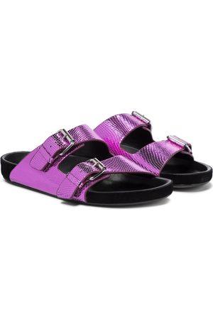 Isabel Marant Lennyo snake-effect leather sandals