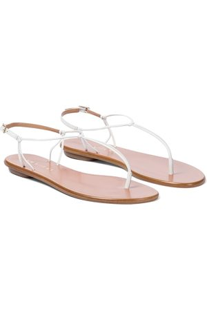 Aquazzura Very Capri leather thong sandals