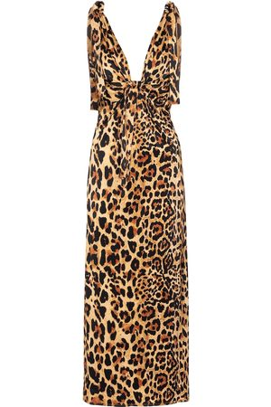 Paco rabanne Printed stretch-jersey midi dress