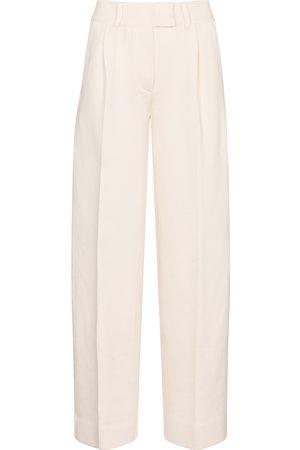 Fendi High-rise straight cotton-blend pants