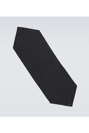 Saint Laurent Men Scarves - Polka-dot silk pointed scarf