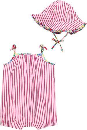 Ralph Lauren Sets - Baby striped cotton playsuit and hat set