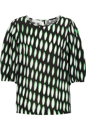 DRIES VAN NOTEN Women Blouses - Printed stretch-crêpe blouse