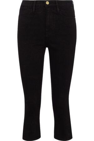 Frame Le High Pedal Pusher denim shorts