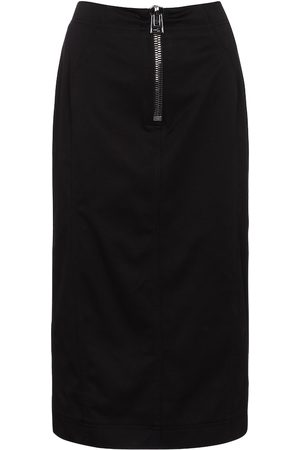 Tom Ford Mid-rise cotton pencil skirt