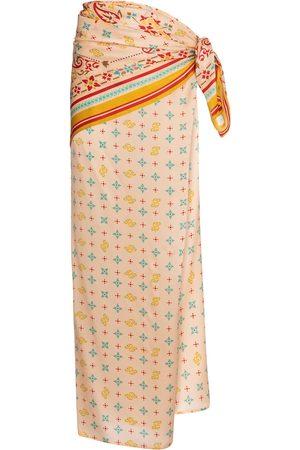 Y / PROJECT Printed silk satin sarong