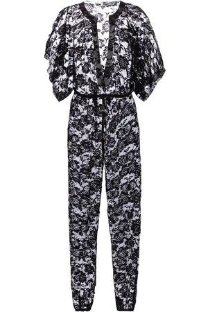 Norma Kamali Floral stretch-lace jumpsuit