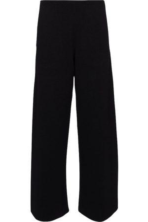 The Row Chuk merino wool and silk knit pants