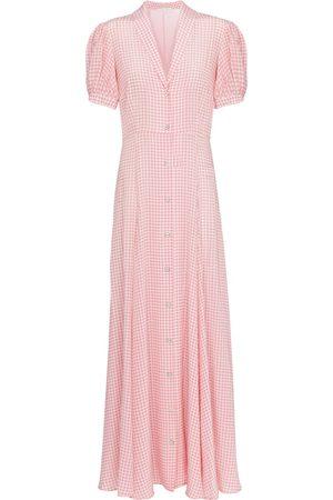 Caroline Constas Bel gingham silk maxi dress
