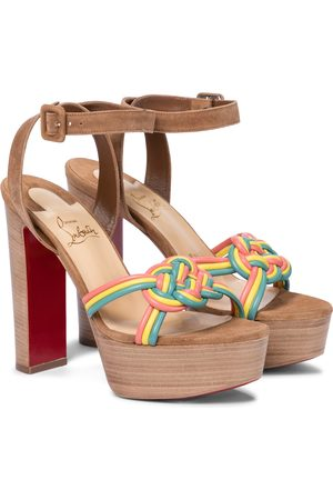 Christian Louboutin Ella 130 leather platform sandals