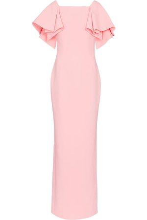 Safiyaa Eve crêpe gown