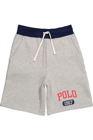 Ralph Lauren Logo drawstring cotton-blend shorts