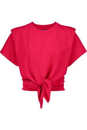Isabel Marant Women Short Sleeve - Zelito knotted cotton T-shirt
