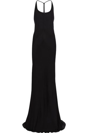 ANN DEMEULEMEESTER Women Halterneck Dresses - Halterneck wool and silk gown