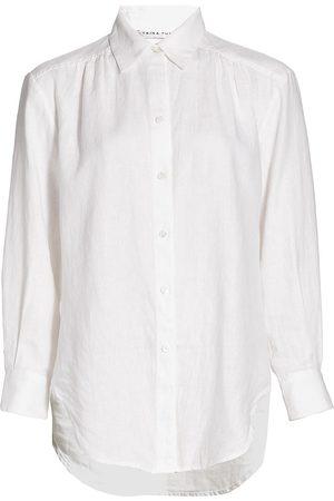 Trina Turk Women Shirts - Women's Unwind Button-Up Linen Shirt - - Size XS