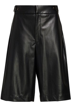 Deveaux New York Women Shorts - Women's Simone Faux Leather Shorts - - Size 8
