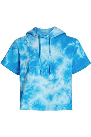 YEAR OF OURS Women Sports T-shirts - Women's Cropped Tie-Dye Slugger T-Shirt - Tie Dye - Size Small