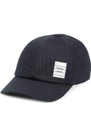 Thom Browne Men Hats - Men's Classic 6-Panel Baseball Hat - Navy - Size Large