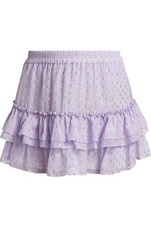 Generation Love Women Mini Skirts - Women's Audrina Ruffle Tier Skirt - Pastel Lilac - Size Small