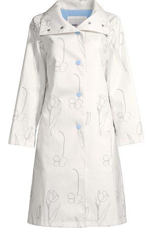Jane Post Women Rainwear - Women's Original Funnel-Neck Floral-Print Slicker - - Size Large