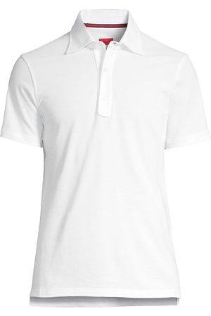 ISAIA Men Polo Shirts - Men's Short-Sleeve Cotton Polo - Open - Size Medium