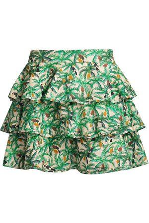 Farm Rio Women's Toucans Layered Mini Skirt - Off - Size XS