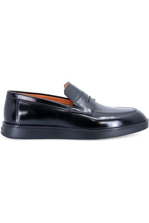 santoni Men's Leather Penny Loafers - - Size 13