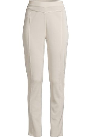 Misook Women's Seamed Slim Trousers - Almond - Size Large