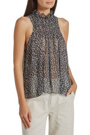 Joie Women Halterneck Tops - Women's Fern Silk Halter Top - Caviar - Size Small