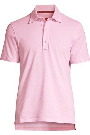ISAIA Men Polo Shirts - Men's Short-Sleeve Cotton Polo - Light - Size XL