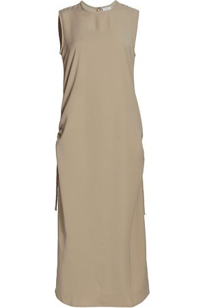 Deveaux New York Women Midi Dresses - Women's Agnes Gathered Tank Dress - Moss - Size 2