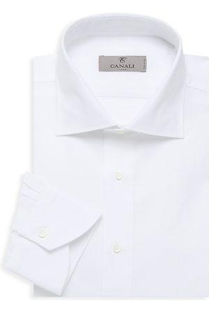 CANALI Women Casual Dresses - Women's Textured Solid Dress Shirt - - Size 15