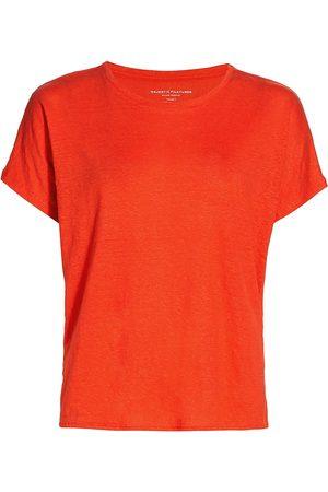 Majestic Women T-shirts - Women's Stretch-Linen T-Shirt - Sunset - Size XS