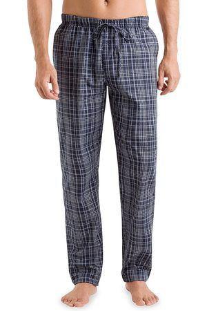 Hanro Men Sweats - Men's Yanis Check Lounge Pants - Elegant Check - Size Medium