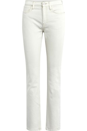 Hudson Women's Holly High-Rise Straight-Leg Jeans - Soft Ecru - Size 25