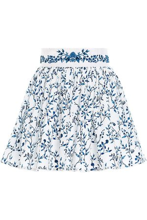 Agua by Agua Bendita Women Mini Skirts - Women's Arandano Floral Mini Skirt - Arandano - Size Small