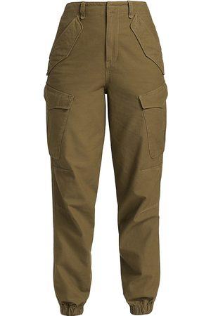 RAG&BONE Women Cargo Pants - Women's Field Cargo Joggers - Dark Olive - Size 26