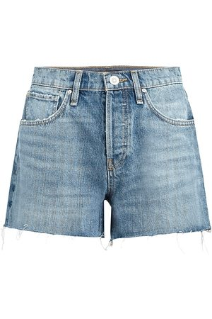 Hudson Women Shorts - Women's Lori High-Rise Raw Hem Denim Shorts - Wonder Wall - Size 28