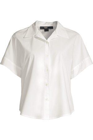 SEVENTY BY SERGIO TEGON Women Short sleeves - Women's Poplin Short-Sleeve Top - Bianco - Size 4