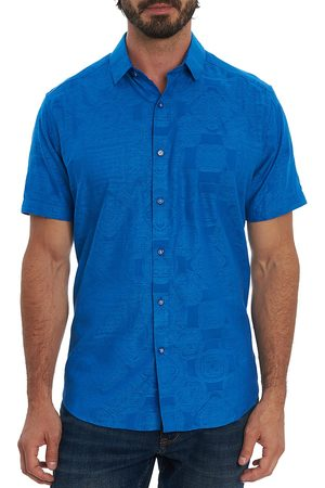 Robert Graham Men Short sleeves - Men's Ulrich Foulard Short-Sleeve Shirt - - Size Large