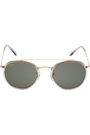 Ray-Ban Men's RB3647 51MM Round Aviator Sunglasses - Shiny