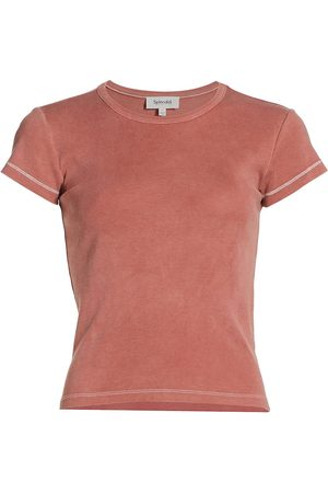 Splendid Women's Ribbed Layering T-Shirt - Terracotta - Size Large