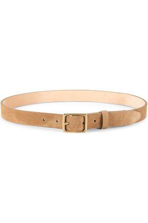 RAG&BONE Belts - Women's Baby Suede Boyfriend Belt - Camel - Size XS