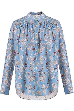 VERONICA BEARD Women T-shirts - Women's Dazed Floral Shirt - Cornflower - Size 8
