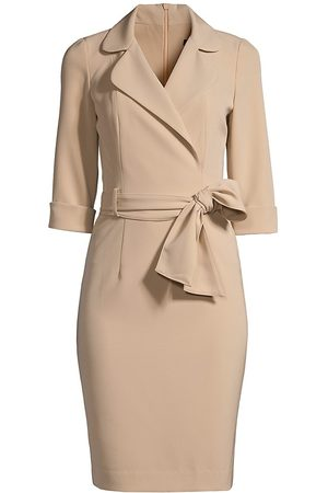 Black Halo Women's Lucinda Belted Dress - Desert Sand - Size 10
